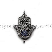 Clear-Zircon-Gemstones-Pave-Lucky-Eye-Hamsa-Hand-Bracelet-Connector-Charm-Beads-371825851684-da20