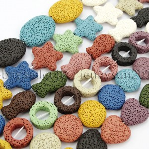 Colorful-Volcanic-Lava-Gemstones-Beads-16-Coin-Oval-Heart-Fish-Star-Round-371599465419