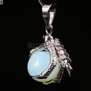 Crystal-Rhinestone-Dragon-Claw-Gemstone-Round-Reiki-Chakra-Healing-Pendant-Bead-281425678023-11