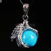 Crystal-Rhinestone-Dragon-Claw-Gemstone-Round-Reiki-Chakra-Healing-Pendant-Bead-281425678023-1834