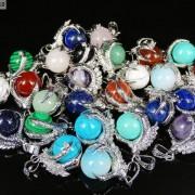 Crystal-Rhinestone-Dragon-Claw-Gemstone-Round-Reiki-Chakra-Healing-Pendant-Bead-281425678023-2