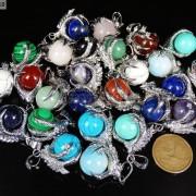 Crystal-Rhinestone-Dragon-Claw-Gemstone-Round-Reiki-Chakra-Healing-Pendant-Bead-281425678023-3
