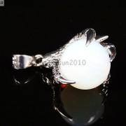 Crystal-Rhinestone-Dragon-Claw-Gemstone-Round-Reiki-Chakra-Healing-Pendant-Bead-281425678023-6