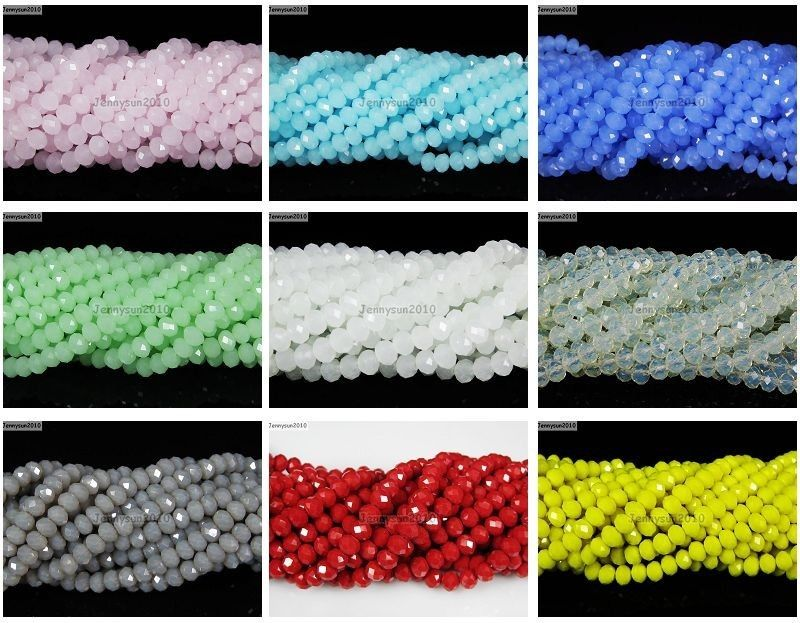 Czech Crystal 2mm X 3mm Faceted Rondelle Loose Beads For