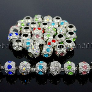Czech-Crystal-Big-Hole-Spacer-Charm-Beads-Fit-European-Bracelet-Necklace-Jewerly-371600353185