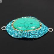Druzy-Quartz-Gemstone-Crystal-Rhinestone-Connector-Charm-Bead-Silver-Plated-New-261590726280-518c