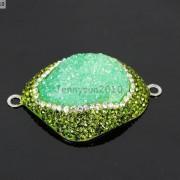 Druzy-Quartz-Gemstone-Crystal-Rhinestone-Connector-Charm-Bead-Silver-Plated-New-261590726280-9004