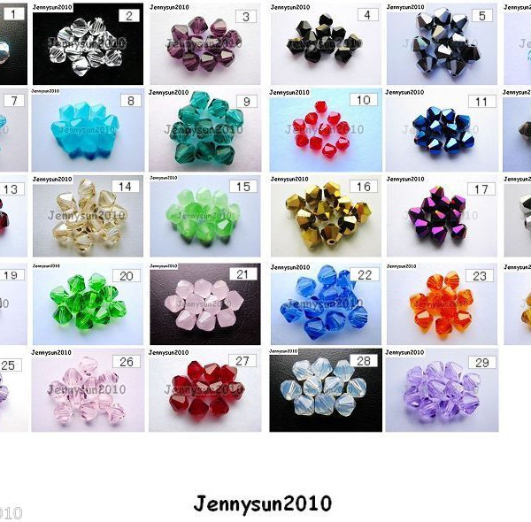 Freeshipping-100Pcs-Top-Quality-Czech-Crystal-Faceted-Bicone-Beads-5mm-Pick-260874775465