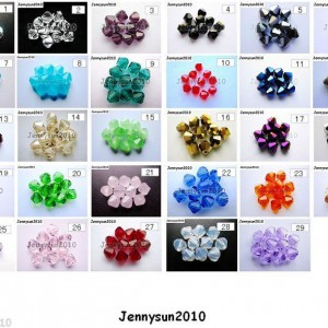 Freeshipping-100Pcs-Top-Quality-Czech-Crystal-Faceted-Bicone-Beads-6mm-Pick-250912664753