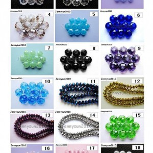 Freeshipping-100Pcs-Top-Quality-Czech-Crystal-Faceted-Rondelle-Beads-7x-10mm-260888118166
