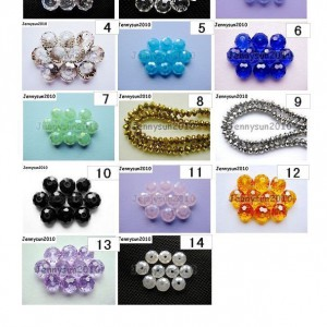 Freeshipping-100Pcs-Top-Quality-Czech-Crystal-Faceted-Rondelle-Beads-9x-12mm-260892084266