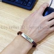GOD-BLESS-Cross-Antique-Bronze-Leather-Wristband-Magnetic-Cuff-Bangle-Bracelet-262024487664-10
