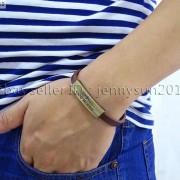 GOD-BLESS-Cross-Antique-Bronze-Leather-Wristband-Magnetic-Cuff-Bangle-Bracelet-262024487664-8