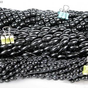 Grade-AAA-Healing-Natural-MAGNETIC-Hematite-Gemstone-Rice-Drum-Beads-16-8mm-281227927330