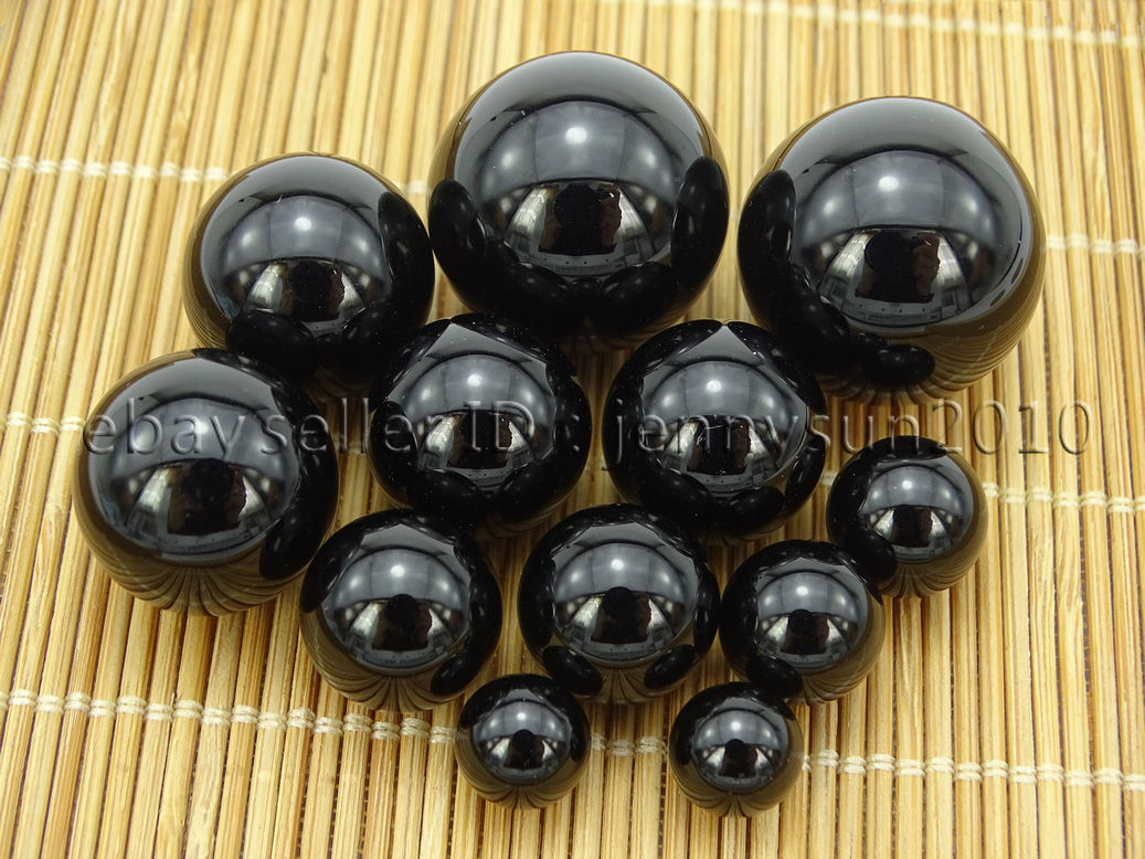 What Color Is Onyx Gemstone : Grade aaa natural black onyx gemstone round sphere ball