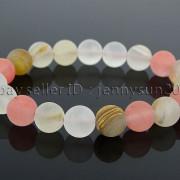 Handmade-10mm-Matte-Frosted-Natural-Gemstones-Round-Beads-Stretchy-Bracelet-371748654789-0760