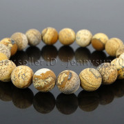 Handmade-10mm-Matte-Frosted-Natural-Gemstones-Round-Beads-Stretchy-Bracelet-371748654789-16e1