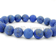 Handmade-10mm-Matte-Frosted-Natural-Gemstones-Round-Beads-Stretchy-Bracelet-371748654789-301e