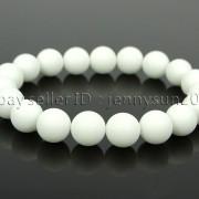 Handmade-10mm-Matte-Frosted-Natural-Gemstones-Round-Beads-Stretchy-Bracelet-371748654789-74f7