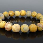Handmade-10mm-Matte-Frosted-Natural-Gemstones-Round-Beads-Stretchy-Bracelet-371748654789-c341