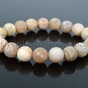Handmade-10mm-Matte-Frosted-Natural-Gemstones-Round-Beads-Stretchy-Bracelet-371748654789-c944