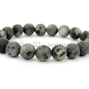 Handmade-10mm-Matte-Frosted-Natural-Gemstones-Round-Beads-Stretchy-Bracelet-371748654789-e176
