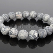 Handmade-10mm-Matte-Frosted-Natural-Gemstones-Round-Beads-Stretchy-Bracelet-371748654789-f97e