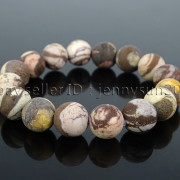 Handmade-12mm-Matte-Frosted-Natural-Gemstones-Round-Beads-Stretchy-Bracelet-371802863865-0188