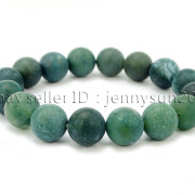 Handmade-12mm-Matte-Frosted-Natural-Gemstones-Round-Beads-Stretchy-Bracelet-371802863865-0407