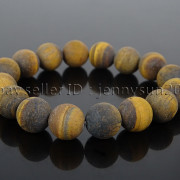 Handmade-12mm-Matte-Frosted-Natural-Gemstones-Round-Beads-Stretchy-Bracelet-371802863865-0643