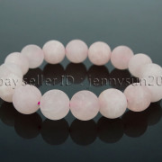 Handmade-12mm-Matte-Frosted-Natural-Gemstones-Round-Beads-Stretchy-Bracelet-371802863865-141e