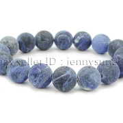 Handmade-12mm-Matte-Frosted-Natural-Gemstones-Round-Beads-Stretchy-Bracelet-371802863865-188c