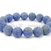 Handmade-12mm-Matte-Frosted-Natural-Gemstones-Round-Beads-Stretchy-Bracelet-371802863865-1ce6