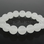 Handmade-12mm-Matte-Frosted-Natural-Gemstones-Round-Beads-Stretchy-Bracelet-371802863865-2110