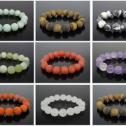 Handmade-12mm-Matte-Frosted-Natural-Gemstones-Round-Beads-Stretchy-Bracelet-371802863865-4