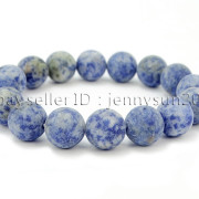 Handmade-12mm-Matte-Frosted-Natural-Gemstones-Round-Beads-Stretchy-Bracelet-371802863865-4077