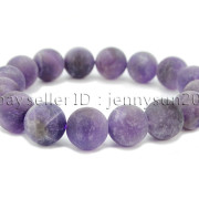 Handmade-12mm-Matte-Frosted-Natural-Gemstones-Round-Beads-Stretchy-Bracelet-371802863865-7a23