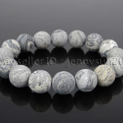 Handmade-12mm-Matte-Frosted-Natural-Gemstones-Round-Beads-Stretchy-Bracelet-371802863865-7b6c