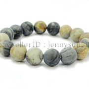 Handmade-12mm-Matte-Frosted-Natural-Gemstones-Round-Beads-Stretchy-Bracelet-371802863865-7d91