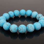 Handmade-12mm-Matte-Frosted-Natural-Gemstones-Round-Beads-Stretchy-Bracelet-371802863865-8c13