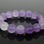 Handmade-12mm-Matte-Frosted-Natural-Gemstones-Round-Beads-Stretchy-Bracelet-371802863865-e6ef