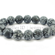 Handmade-12mm-Matte-Frosted-Natural-Gemstones-Round-Beads-Stretchy-Bracelet-371802863865-e89c