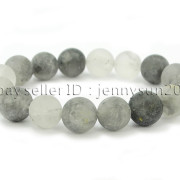Handmade-12mm-Matte-Frosted-Natural-Gemstones-Round-Beads-Stretchy-Bracelet-371802863865-fdb0