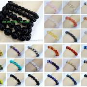 Handmade-12mm-Natural-Gemstone-Round-Beads-Stretchy-Bracelet-Healing-Reiki-371094780168-2