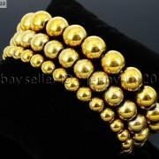 Handmade-12mm-Natural-Gemstone-Round-Beads-Stretchy-Bracelet-Healing-Reiki-371094780168-9900