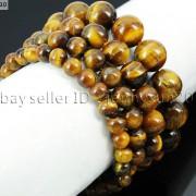 Handmade-12mm-Natural-Gemstone-Round-Beads-Stretchy-Bracelet-Healing-Reiki-371094780168-b2e3