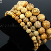 Handmade-12mm-Natural-Gemstone-Round-Beads-Stretchy-Bracelet-Healing-Reiki-371094780168-c807