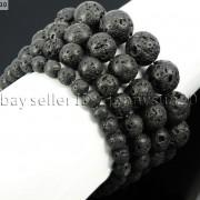 Handmade-12mm-Natural-Gemstone-Round-Beads-Stretchy-Bracelet-Healing-Reiki-371094780168-d1e0