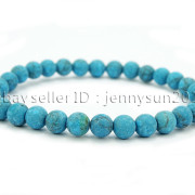 Handmade-6mm-Matte-Frosted-Natural-Gemstone-Round-Bead-Stretchy-Bracelet-Healing-371723628327-0653