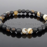 Handmade-6mm-Matte-Frosted-Natural-Gemstone-Round-Bead-Stretchy-Bracelet-Healing-371723628327-1fb4